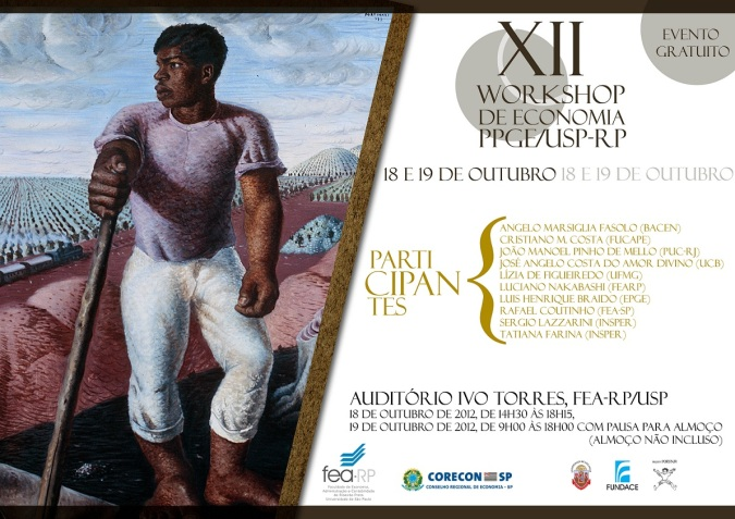 Cartaz de divulgação -  XII Workshop de Economia